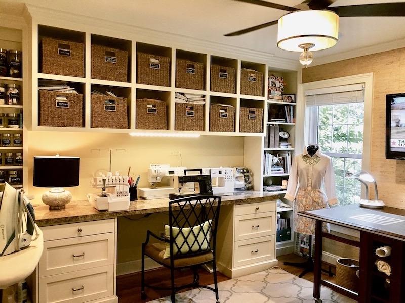 Julie's sewing studio