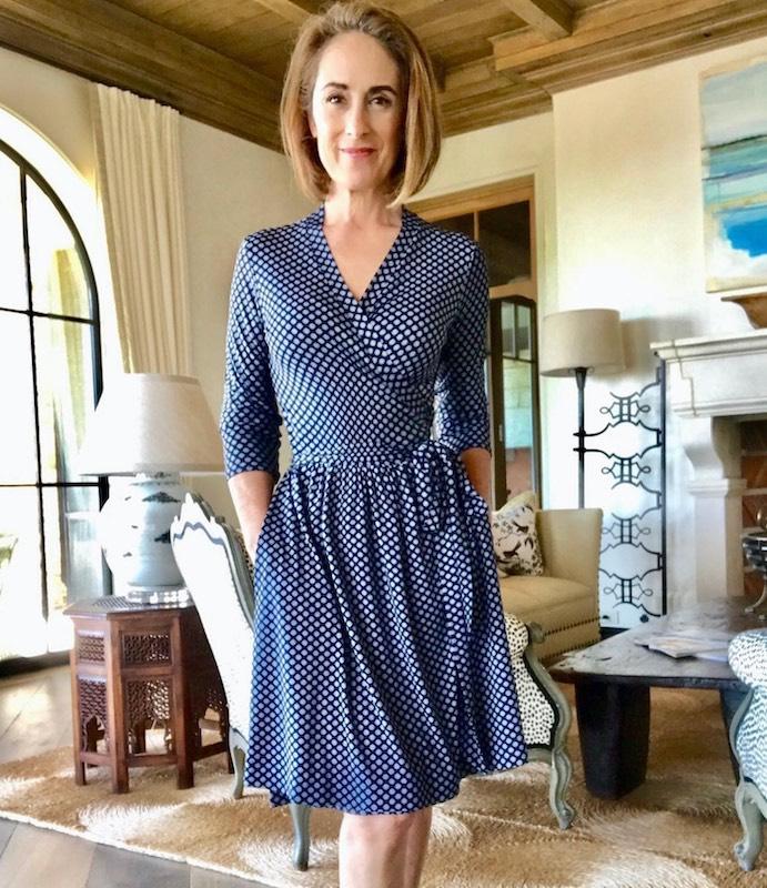 Wrap dress made by Julie Starr