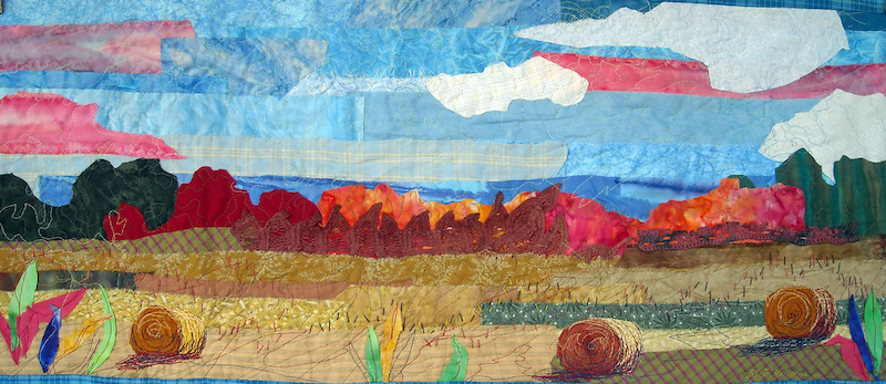 Field of Dreams a textile piece by Lorie McCown