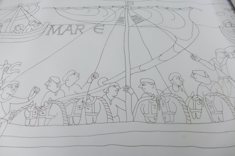 Illustration for Bayeux Tapestry