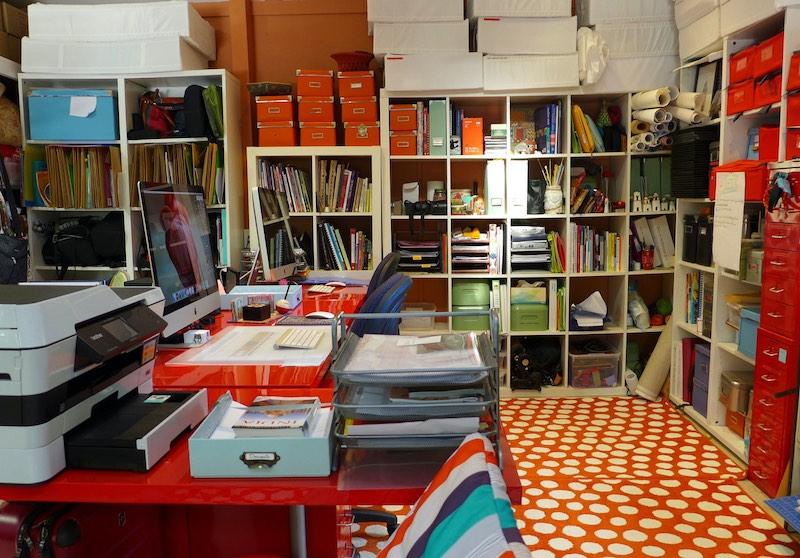 Pam's working studio