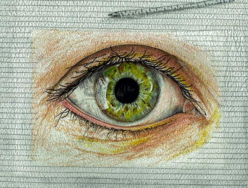 Eye thread painting