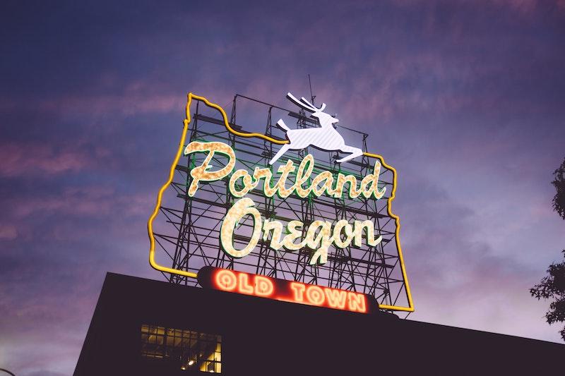 Portland Oregon Buck Sign