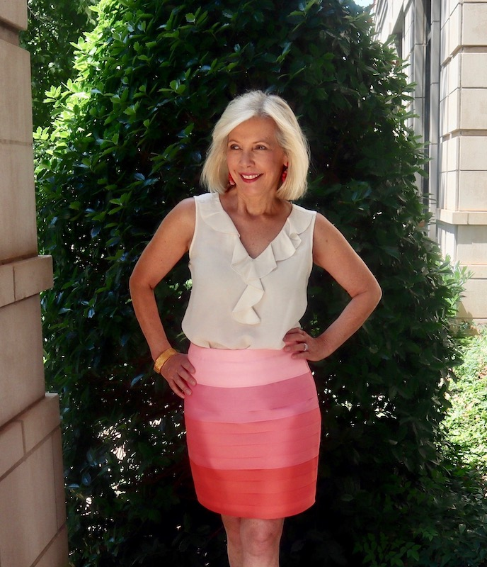 Sarah in a Spoleta Ribbon Skirt