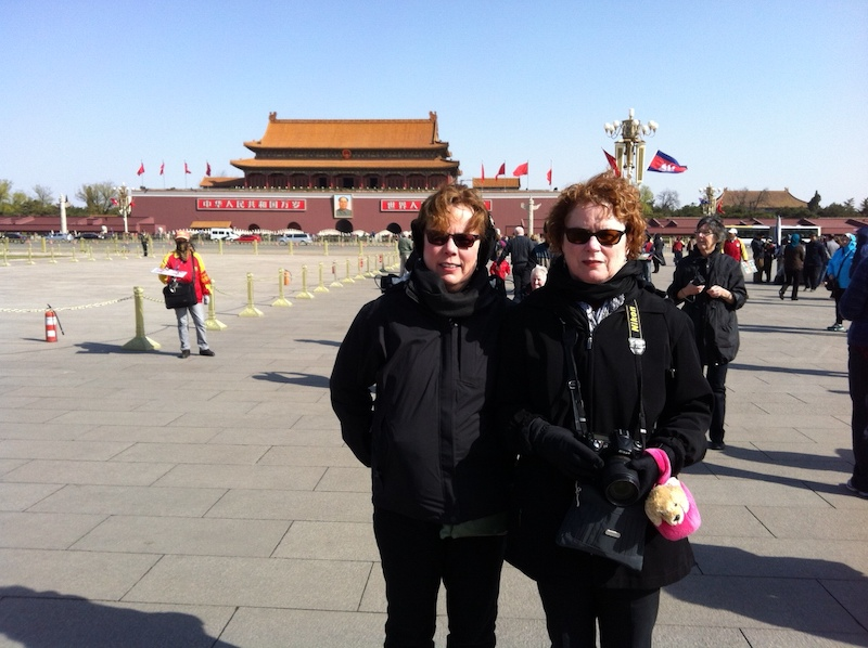Sue and Pat in Beijing, China on an Asia cruise