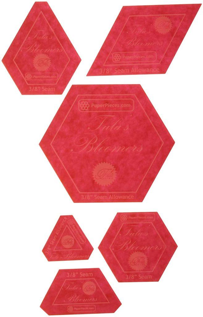 EPP Tulas Bloomers Acrylic Templates