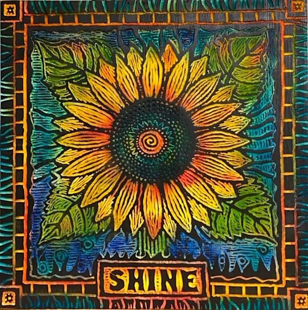 Print of a Sunflower titled Shine