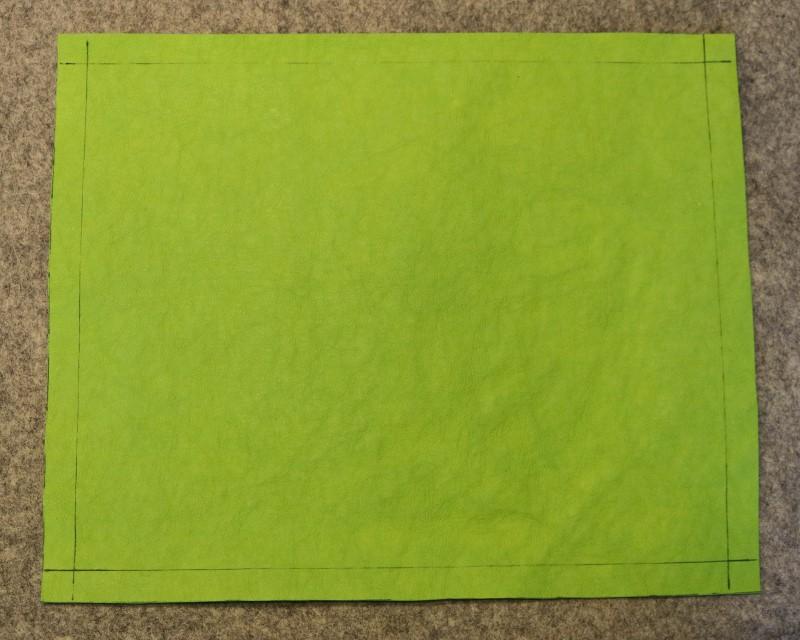 Mark 8 x 10 rectangle on Kraft-Tex