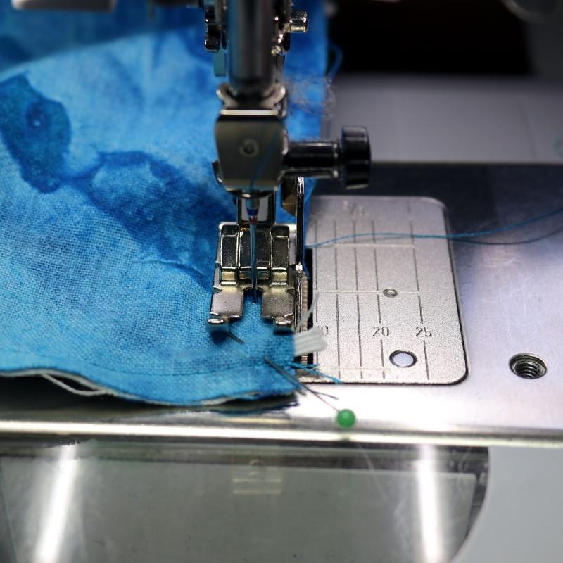 Sew Face Mask Bottom Edge Leave Gap for Turning
