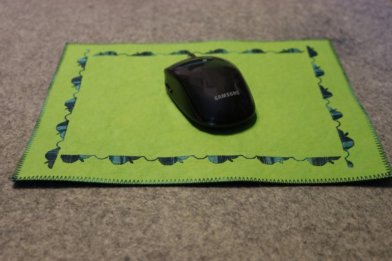 Finished kraft-tex mouse pad