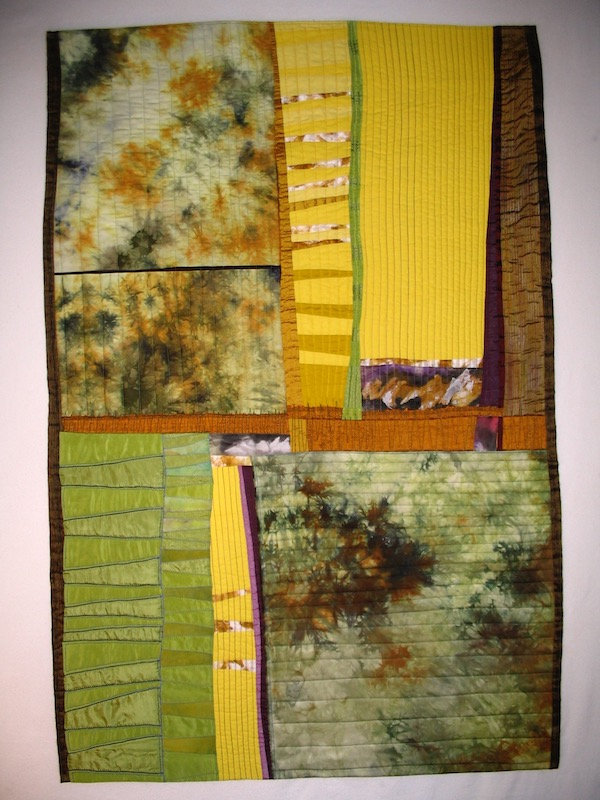 Fields art quilt