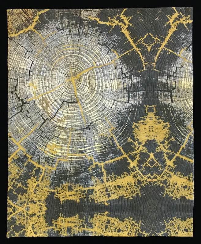 Line Dance Tree Ring Patterns, var. 15 by Barbara Schneider