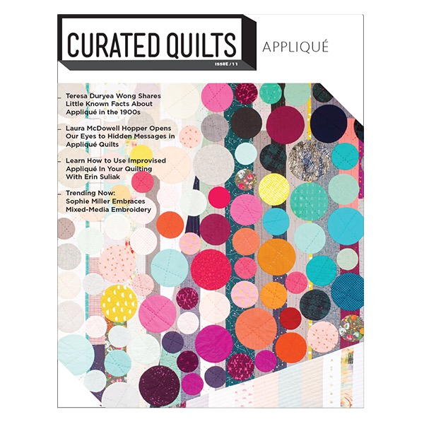 Cover of Curated Quilts Magazine