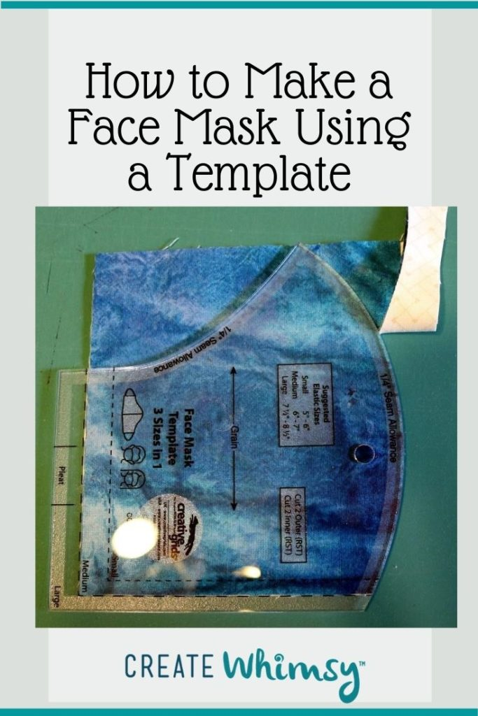 Face Mask Template Pin Image 1