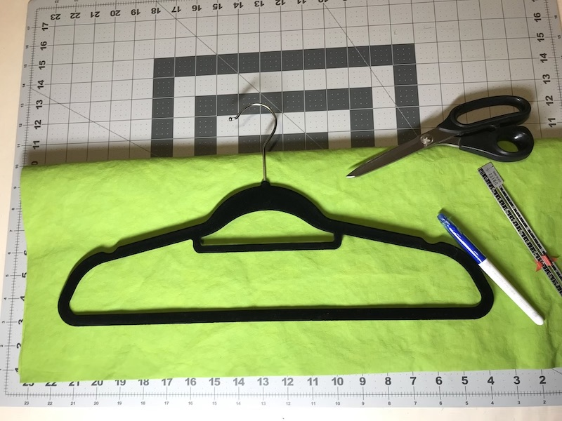Start by drawing around your preferred hanger on the Kraft-tex