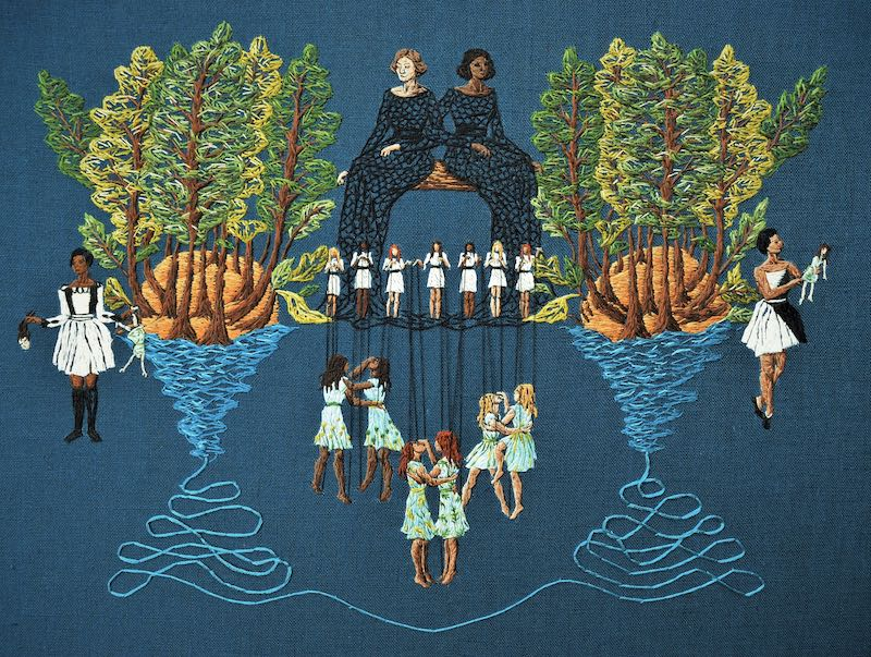 The Finest Trick embroidery art by Michelle Kingdom