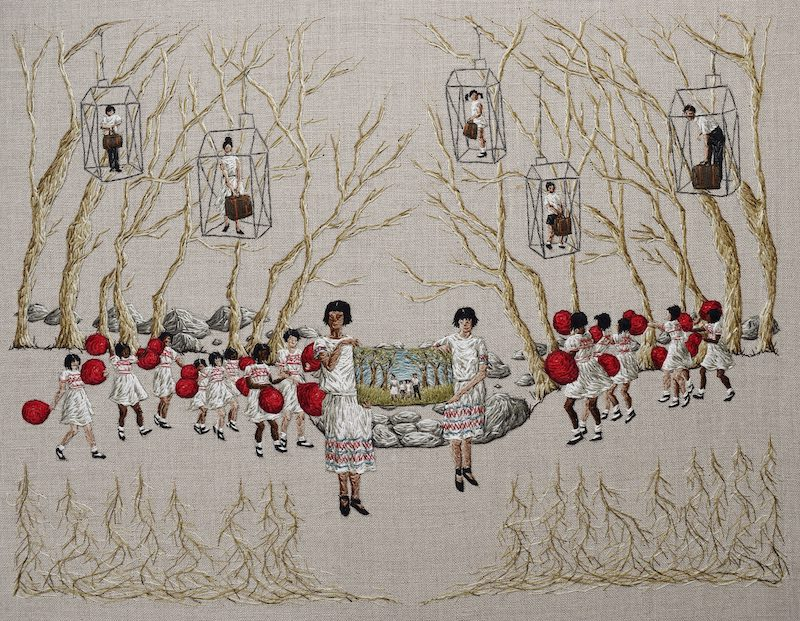 As Plain As Day embroidery art