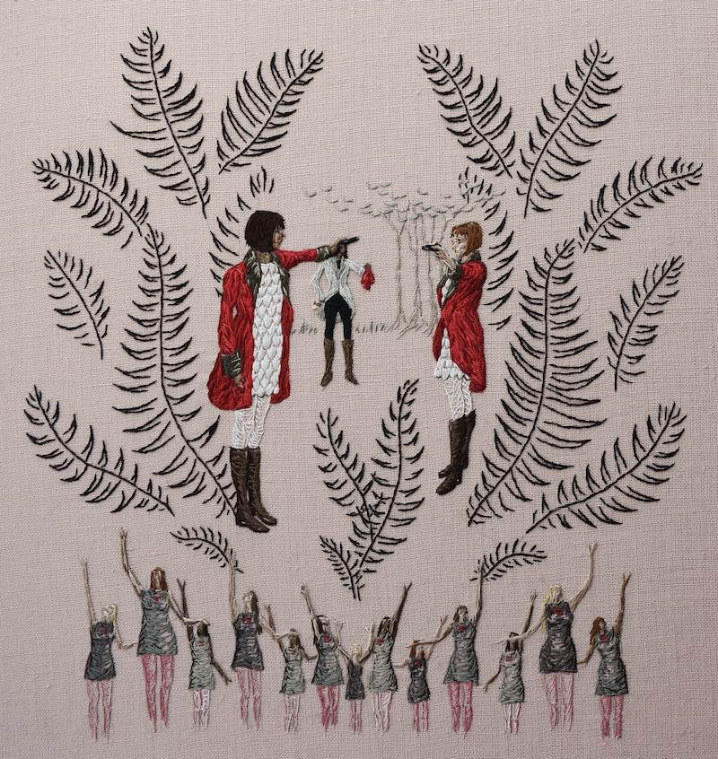 Now We Have Chosen embroidery art by Michelle Kingdom