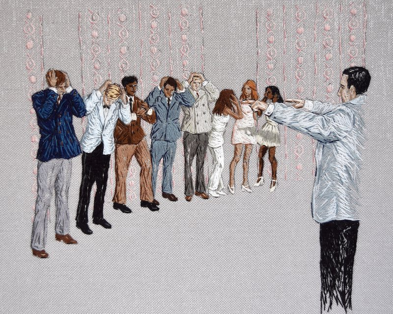 The Inheritors embroidery art
