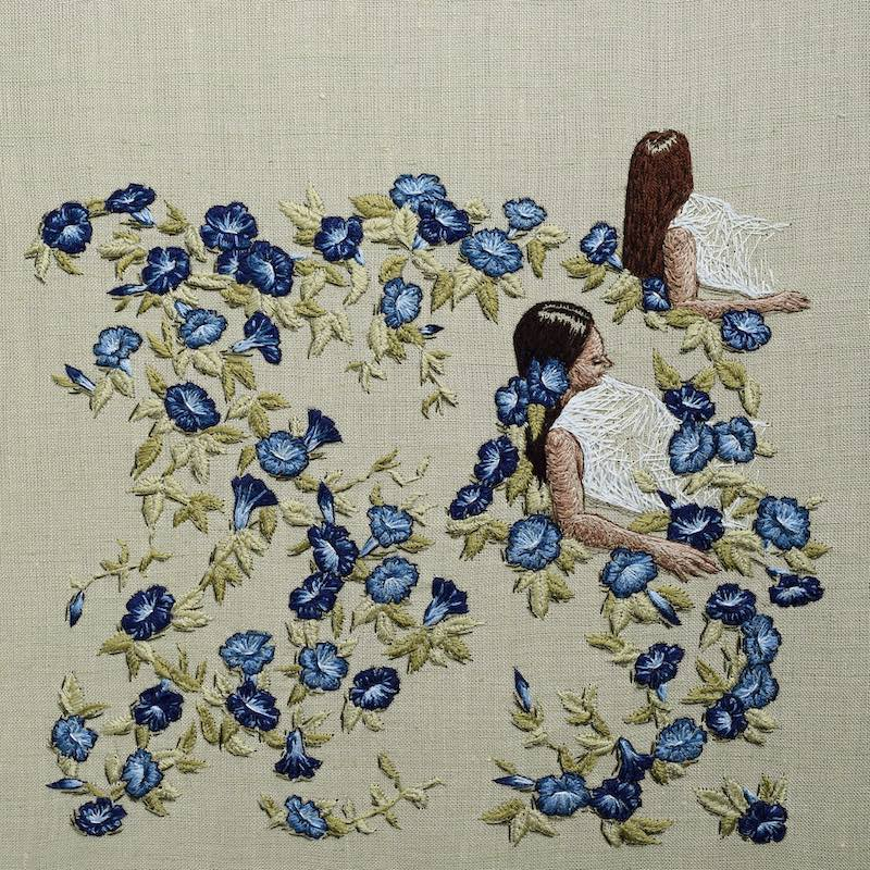 We Grow Rings embroidery art by Michelle Kingdom