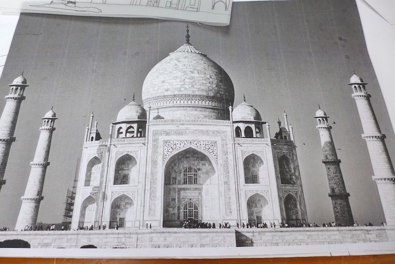 Photo of the Taj Mahal which was inspiration for the piece