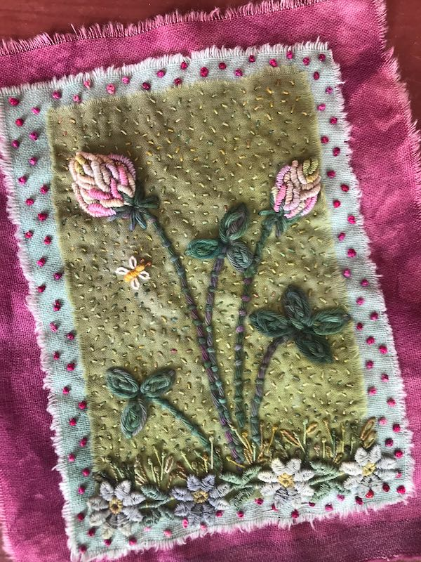Weed Garden fabric book