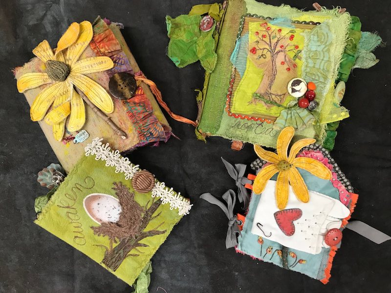 Collection of fabric books by Susan Edmonson