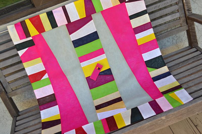 Colorful bojagi piece