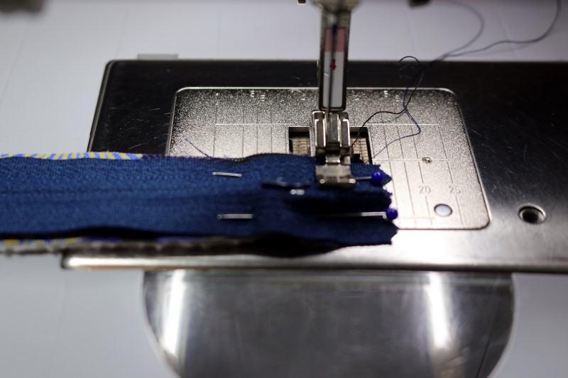 RST Stitch Zipper to Strip and Batting