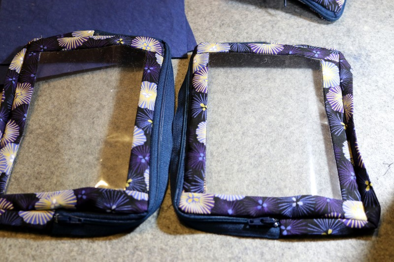 Mirrored Vinyl Pouches Ready to Stitch to Slide Pockets