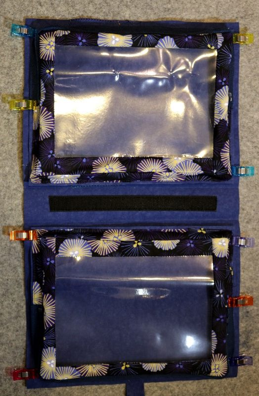 Clip Pouches to Front and Back