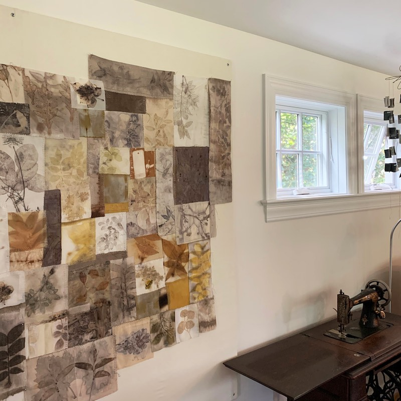 Lotta's design wall in her studio