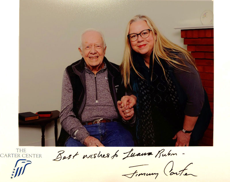Luana with Jimmy Carter