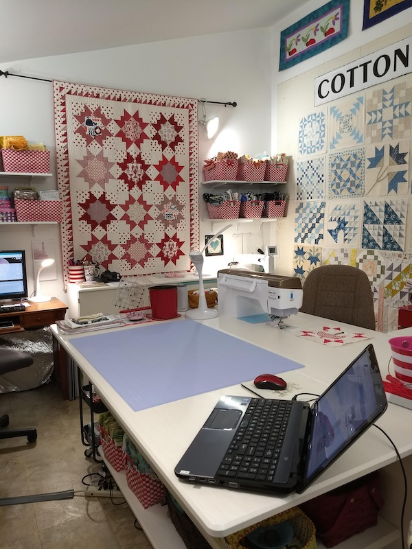 Pat's sewing area in her studio