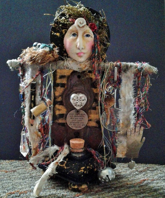 Art Doll with Heart by Patricia Mosca