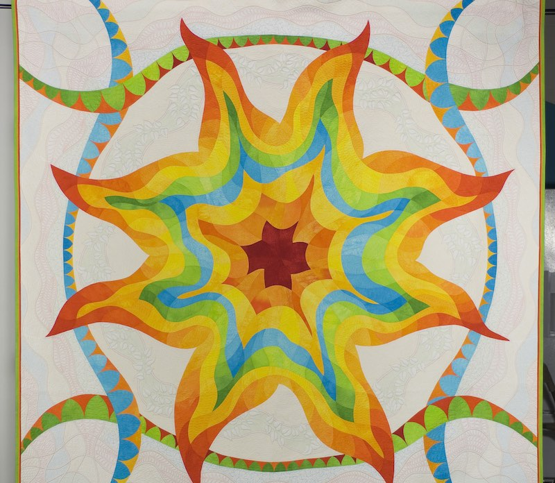 Sun quilt by Philippa Naylor