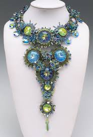 Blue and green necklace by Sherry Serafini
