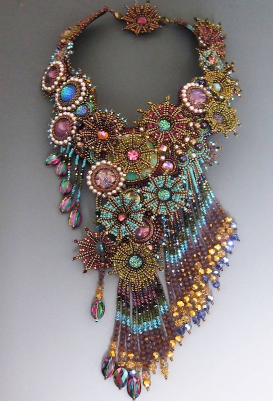 Asymetrical beaded necklace