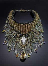 Fringe beaded necklace