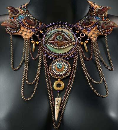 Monster eye necklace