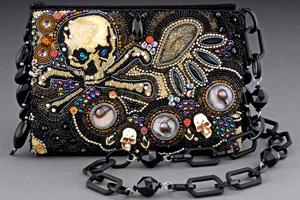 Skull beaded handbag