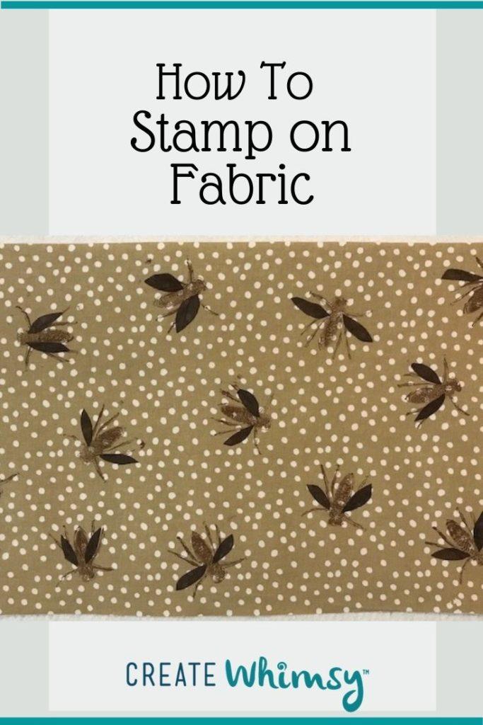 Pinterest image stamp on fabric 1