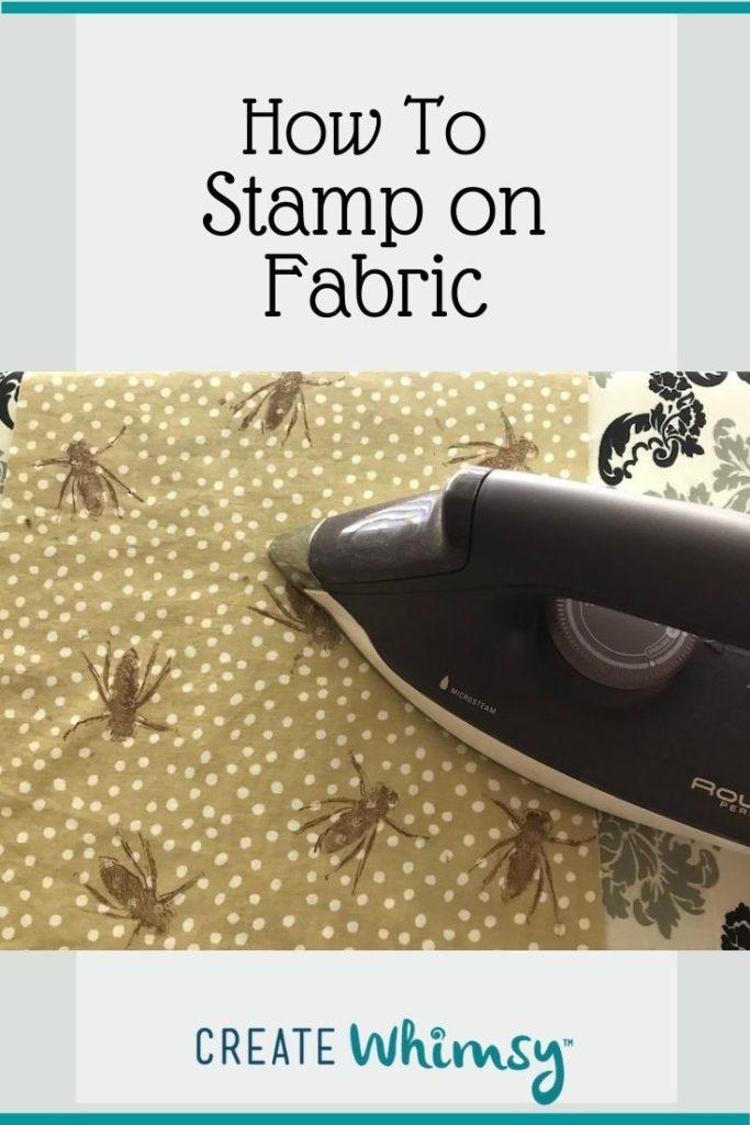 Pinterest image stamp on fabric 2