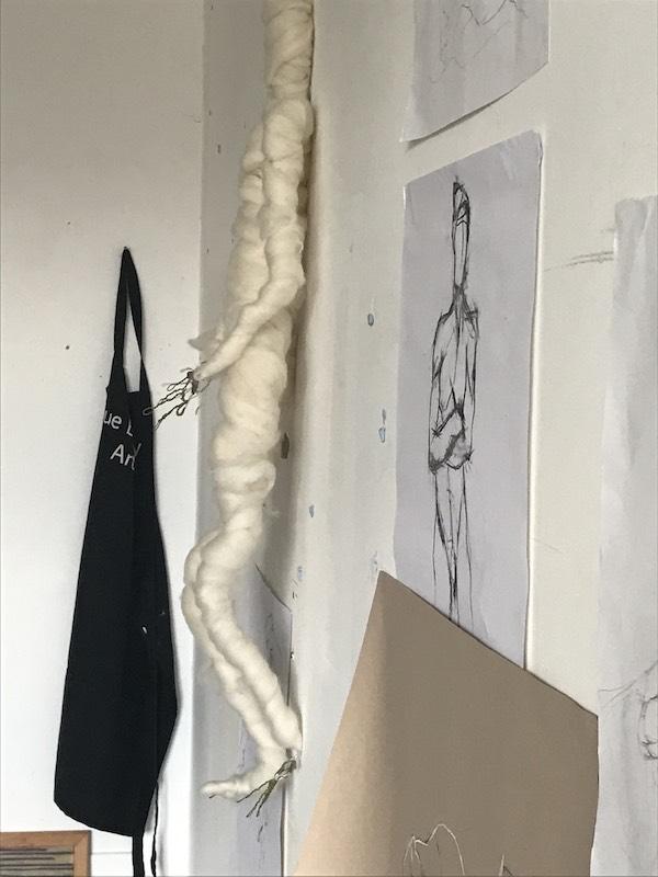 Work in progress in Sue's studio