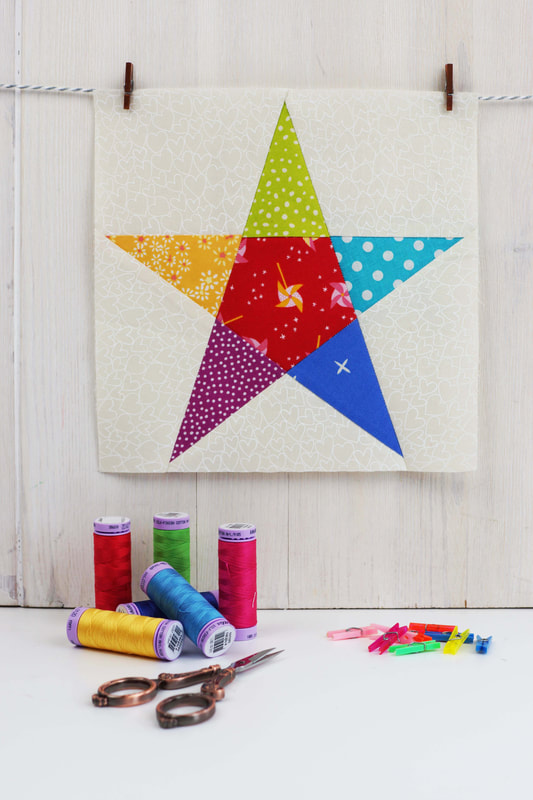 Easy paper piecing star