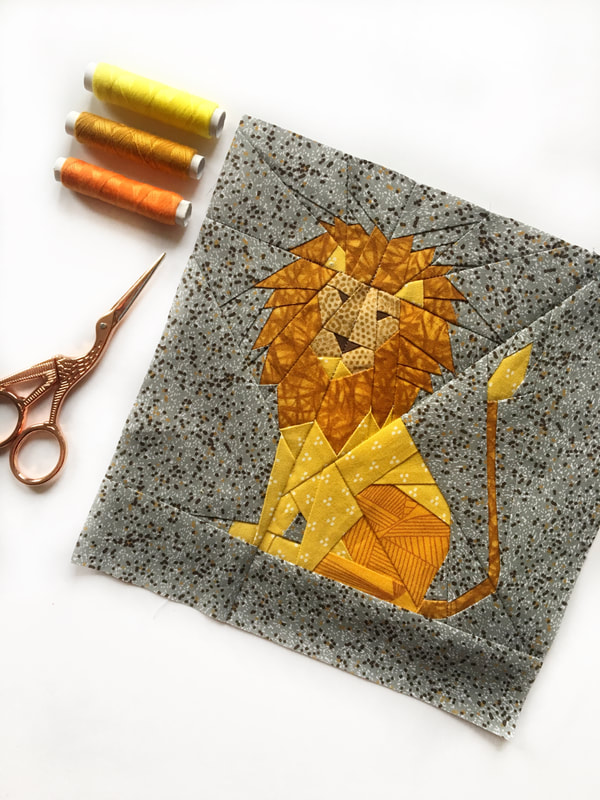 Paper pieced lion
