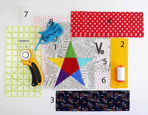 Directions for making an easy drawstring bag