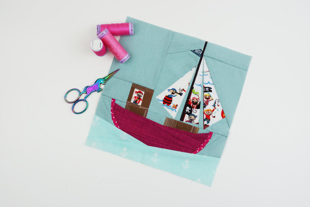 Variation on paper pieced sailboat
