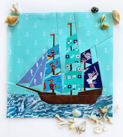Paper pieced yacht