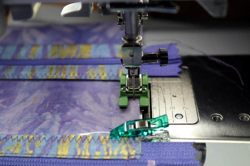 Stitch pockets to lining
